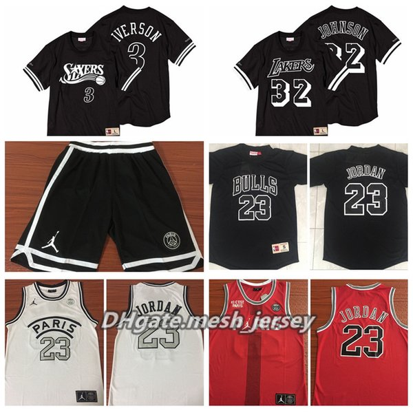low priced cheap prices cheap for sale 2019 New 2019 PSG Paris Jersey Bull 23 Michael JD Laker #32 Earvin Johnson  #3 Iverson Basketball Jerseys Black Wholesale From Custom_tshirt, $19.1    ...