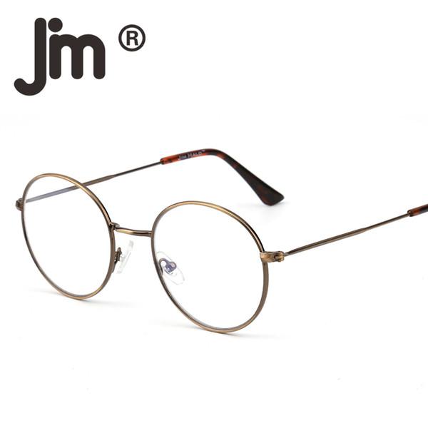 25075a6a4 Retro Vintage de Alta Qualidade Rodada Fio De Arame Óculos Círculo Quadro  Lente Clara Óculos Óculos