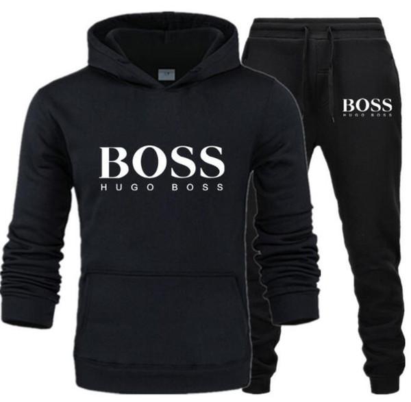 Sonbahar kış erkek giyim kapüşonlu kapşonlu + pantolon takım elbise monogram erkek ve kadın spor giyim üreticileri doğrudan satış Erkekler eşofman