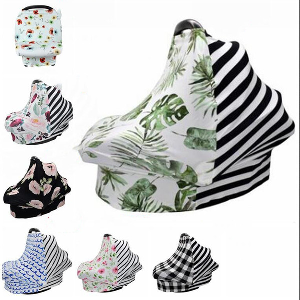 top popular Breastfeeding Privacy Cover Flower Fruit Cartoon Printed Baby Carriage Dust Cover Shawl Car Seat Stroller Canopy Tools WY208Q 2021