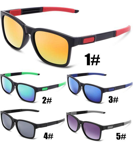 5 цветов Солнцезащитные Очки Мужчины Женщины Вождения Квадратная Рамка Солнцезащитные Очки Мода ПК рамка Дизайнер Классический Мужской Очки UV400 Gafas De Sol 10 ШТ.