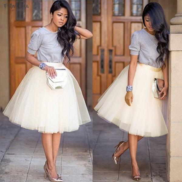 Les femmes adultes Mode Tulle Jupe moitié Princesse filles Ballet Tutu danse jupe robe de bal Partywear Jupe noire Blanc