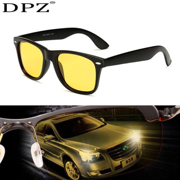 Lunettes de vision nocturne pour phare polarisant conduite lunettes de soleil lentille jaune Protection UV400 Lunettes de nuit pour les rayons du conducteur 2140