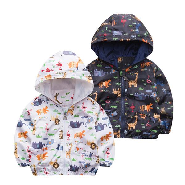 good quality Dinosaur Boys Girls Spring Autumn Jacket Cute Wind Proof Kids Coat Children's Clothing