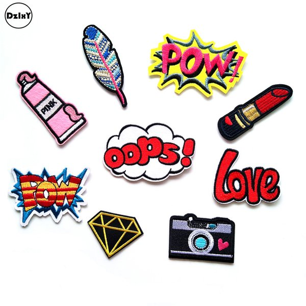 2019 Pink Girls Parches Embroidered Iron On Patches For Clothing DIY  Stripes Clothes Letter Stickers Custom Badges @H From Pingwang1, $53 91 |