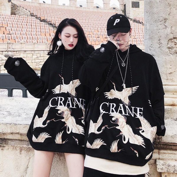 Cotto Solide Broderie Hoodies Oversize Hip-Hop Style Swag Tyga À Capuche Automne Hoodies Taille US S-XL