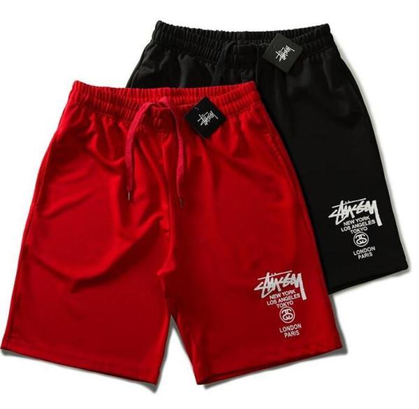 Europäische und amerikanische Explosionen Brief Druckqualität Männer und Frauen Paare beiläufige Sport Shorts, M-XXL-Code.