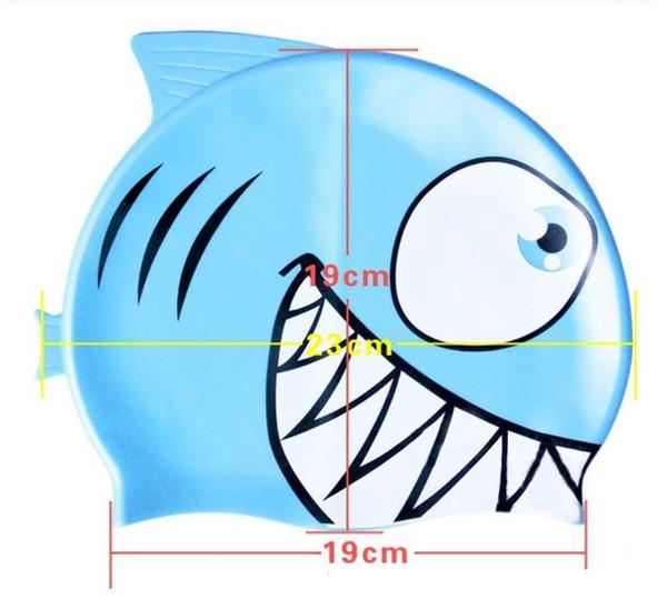 Toptan-yüzme kap karikatür balık palyaço balığı elastik yüzmek kap sevimli oğlan kız yüzmek havuzu banyo elastik dayanıklı şapka bebek banyo kapaklar