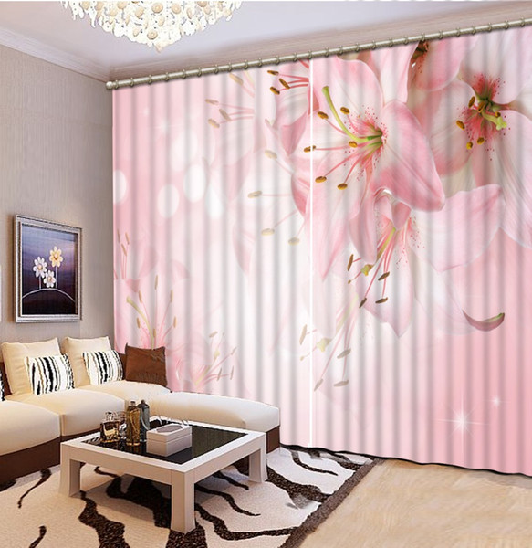 Customize 2019 Blackout Window Luxury 3D Curtains For Living room Bed room Office Hotel Home Flower Stereoscopic Curtains