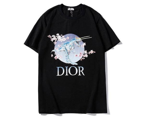 2019 весна лето мода поло мужская дизайнерская футболка с вышивкой волк футболка с короткими рукавами мужская молодежная футболка