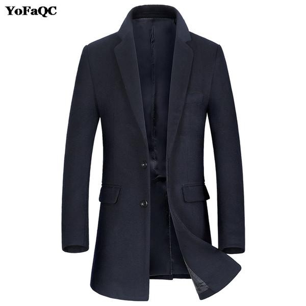 Cappotto solido del rivestimento di colore trincea uomini della Mens turn-down Collar Giacca a vento Giacche Uomo Trench Designer Red Coat Overcoat Uomini