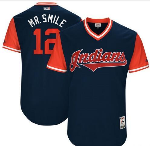 on sale cef50 213e4 Men'S Cleveland Indians Mike Napoli Jay Bruce Joe Carter Navy Cooperstown  Collection Mesh Batting Practice Baseball Jersey Free Delivery Awesome ...