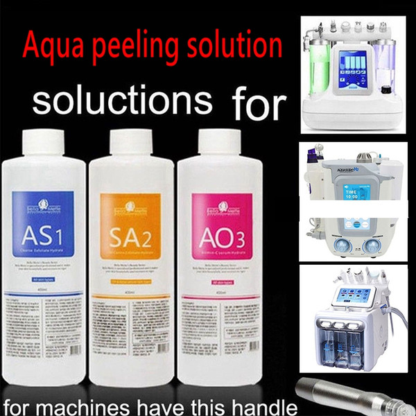 Aqua peeling olution 400ml per bottle aqua facial erum hydra facial erum for hydro facial dermabra ion