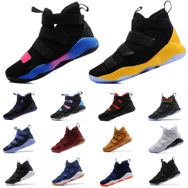 Scarpe da pallacanestro sportive da uomo James 11 Soldato XI 11 Una varietà di sneaker sportive colorate 40-46