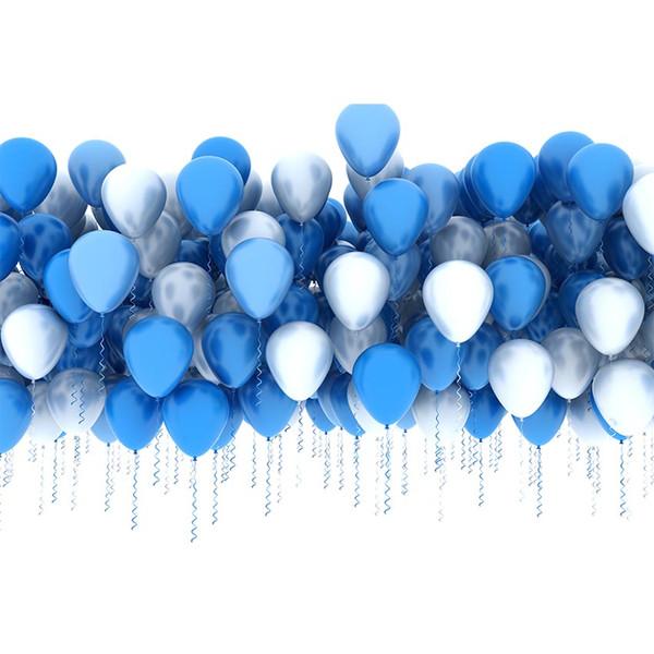 7x5FT Light Blue Balloons Boy Baby Shower Custom Photo Studio Background Backdrops Vinyl 2.2x1.5m
