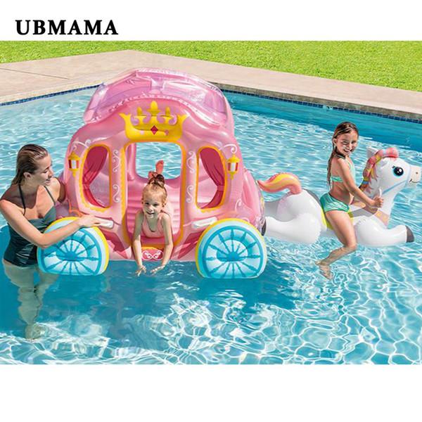 BUENA princesa Carriage Toy House Juguetes acuáticos Bebés Océano Bola Piscina Tienda inflable para niños