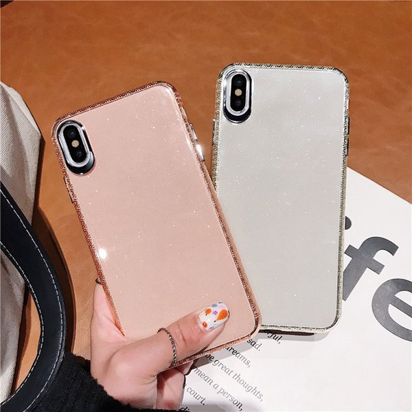 For iPhone 6/7/8 plus shatter-resistant shell iPhone XS MAX mobile phone case X/XS Transparent protective sheath 6S plus back cover A0003