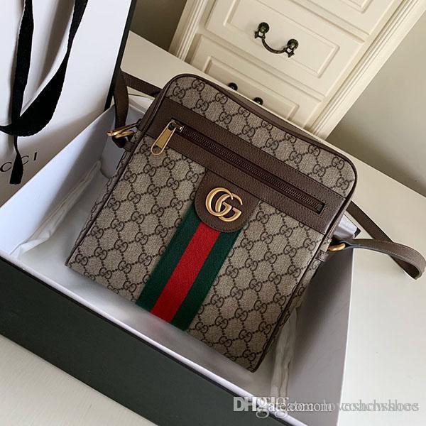 Top quality men square bag crossbody classic fashion metal button Printed real leather chain bag luxury handbag purses bags Free shipping
