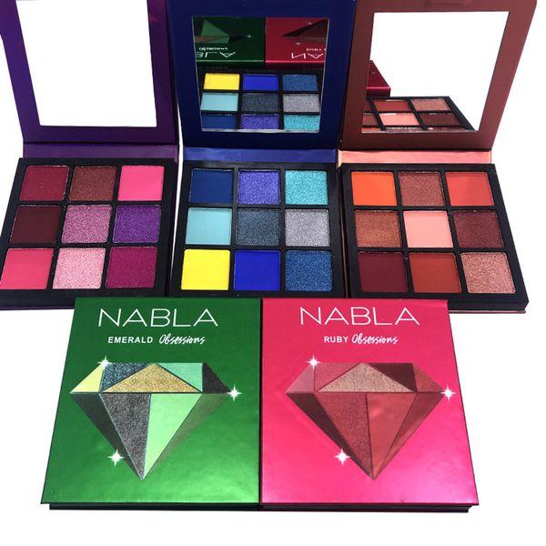 Diamond Makeup Eyeshadow Palette 9 Colors Shimmer Matte Makeup Ombretto Dish Earth Color Eye shadow Set vassoio 5 stile