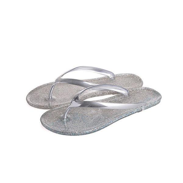 Women Flip Flops Beach Flippers Fashion Bling Slippers Summer Women Flats Shoes Woman Flat Flippers Casual Shoes Chinelo Pantufa