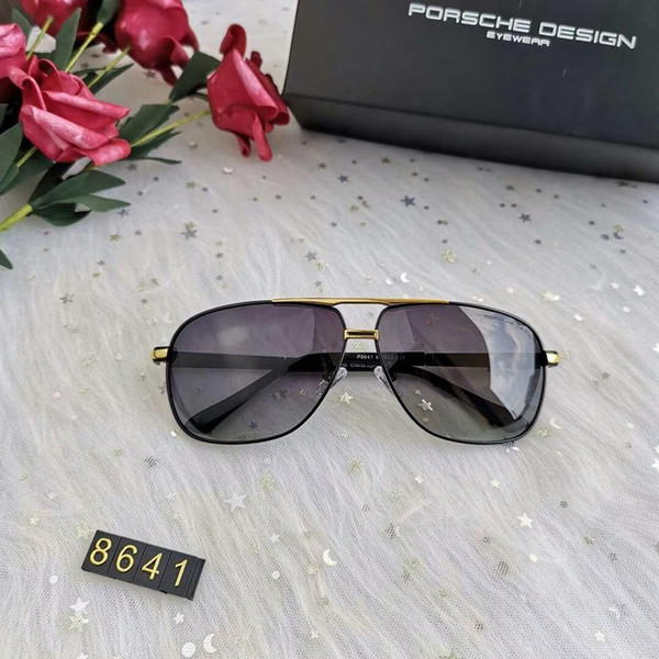 Роскошные Солнцезащитные Очки Дизайнерские Очки Модный Бренд P8641 Дизайнерские Очки для Мужских Очков UV400 4 Цвета Опционально с Коробкой Высокого Качества
