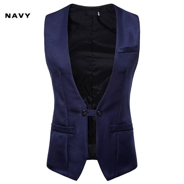 2019 Men's Wedding Dress Vest Autumn And Winter New V-collar Design Men's Armor Men's Self-cultivation Double-row Button Suit And Jacket