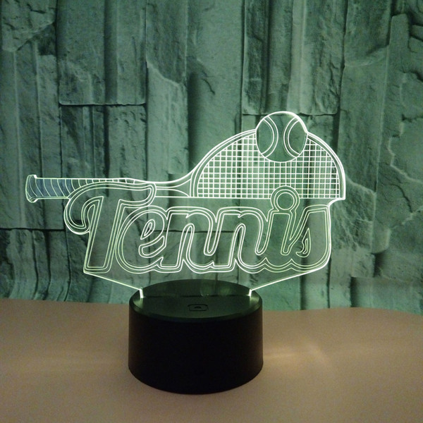 New Pattern Tennis 3d Led Lamp Usb Colorful Touch Led Vision Lamp Gift Festival Celebration Small Desk Lamp