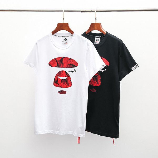 New Mens Clothings Mens Casual T Shirt In Summer Print Short Sleeve Cotton Blend Tees Tide Letter Size S-XXL