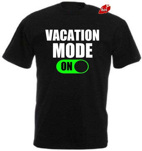 2018 Merk Tees Homme camiseta estampada Mannen Harajuku Vacation Modus Op Mannen camiseta Grote Kwaliteit Grappige Man Katoen
