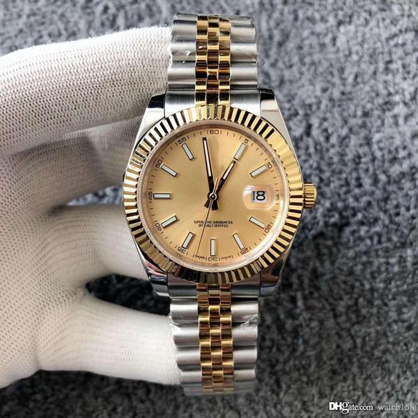 Top design de luxe nouvelle montre mécanique automatique 36mm en acier inoxydable montre étanche