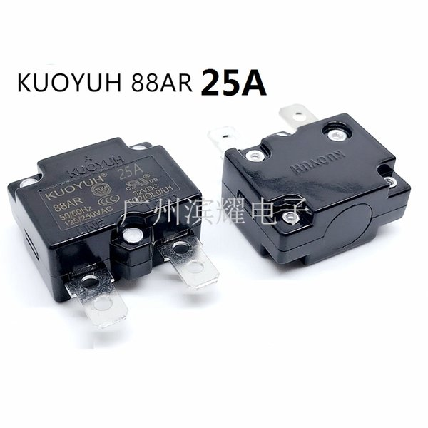 top popular Taiwan KUOYUH 88AR-25A Overcurrent Protector Overload Switch Automatic Reset 2021
