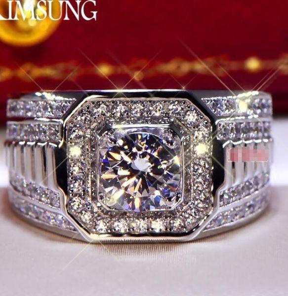 3CT Solide 925 Sterling Silber Hochzeitstag Moissanite SONA Diamant Ring Engagement BAND Modeschmuck Männer Frauen Geschenk Drop Shipping