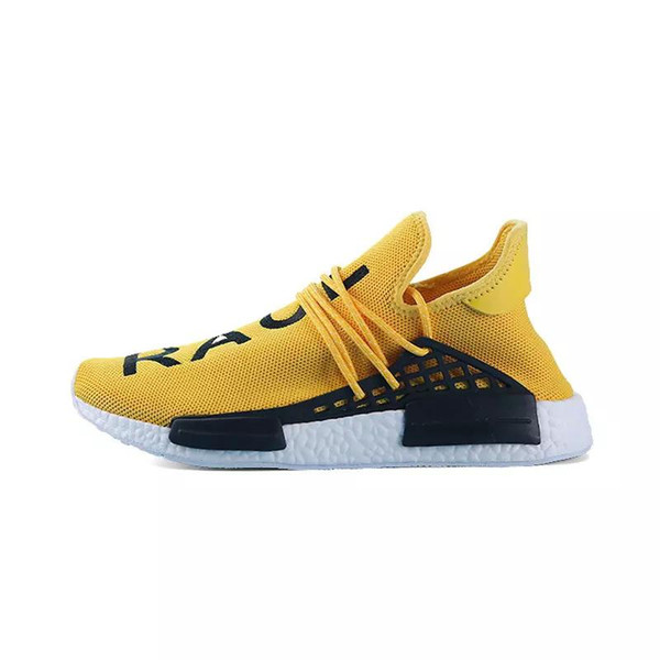 """2019 HOT Top Wholesale NMDs""""HUMAN RACE"""" Pharrell Williams x 2018 Men Women Discount Cheap Fashion Shoes Free Shipping size 36-45"""