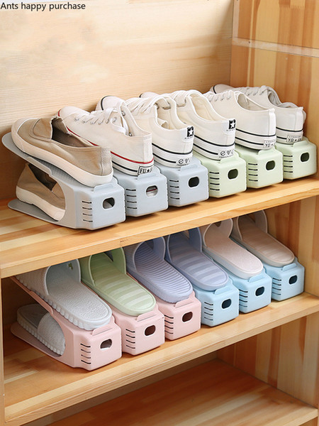 8 adet Dayanıklı Ayarlanabilir Ayakkabı Organizatör Ayakkabı Destek Yuvası Uzay Tasarruf Kabine Dolap Ayakkabı Saklama ayakkabı kutusu Raf Standı