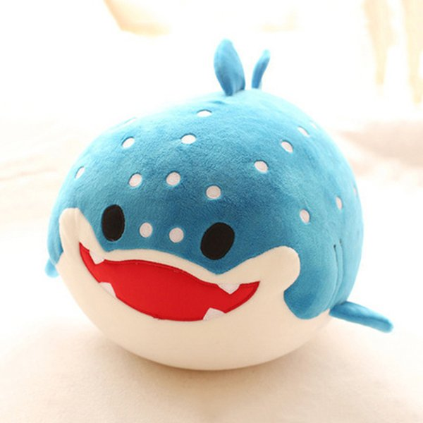 20cm Soft Cartoon Animals Plush Toys For Children Cute Dolphin Seal Whale Shark Stuffed Animals Pillow Cushion Kids Toys Gift