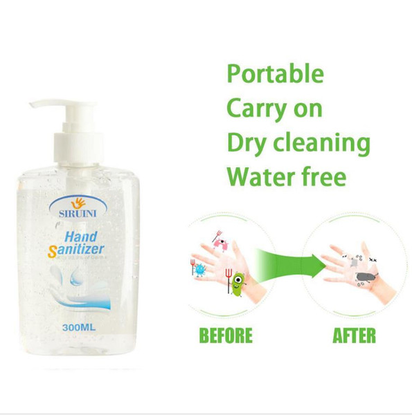 top popular SIRUINI Hand Sanitizer 300ml Hand Sanitizer Liquid High-efficiency Disinfection Wash Free for Home Office With DHL free ship 2021