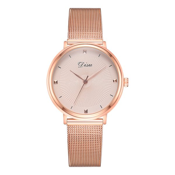 Women Fashion Quartz Watch Trend The Color Mesh Belt With Pin BuckleDoes Not Show Off Ladies Watch orologio donna