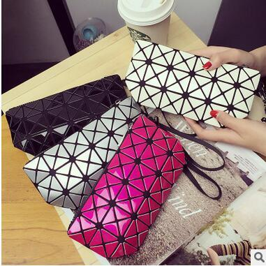 New Arrival Sequins Diamond Lattice PU Clutch Bags Women Lady Fashion Dinner Cosmetic Bags Popular Large Capacity Hand Bags