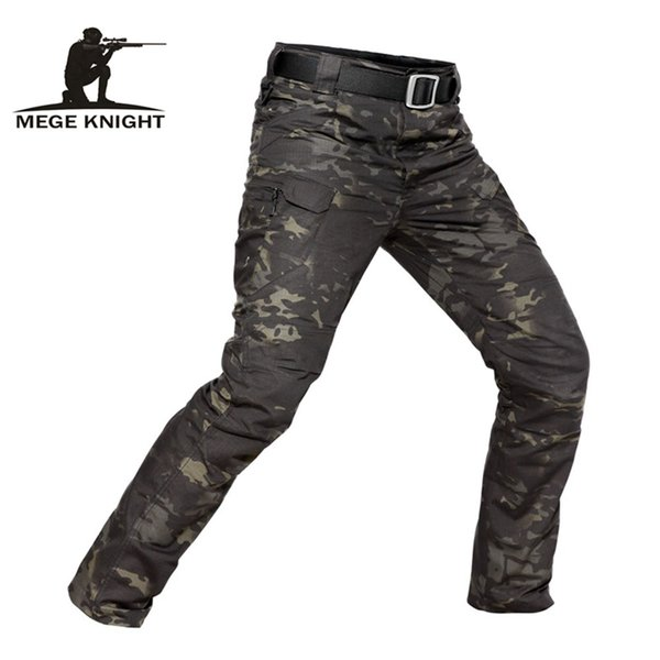 MEGE Brand Tactical Camouflage Casual Combat Cargo Pants Water Repellent Ripstop Men's 5XL Trousers Spring Autumn