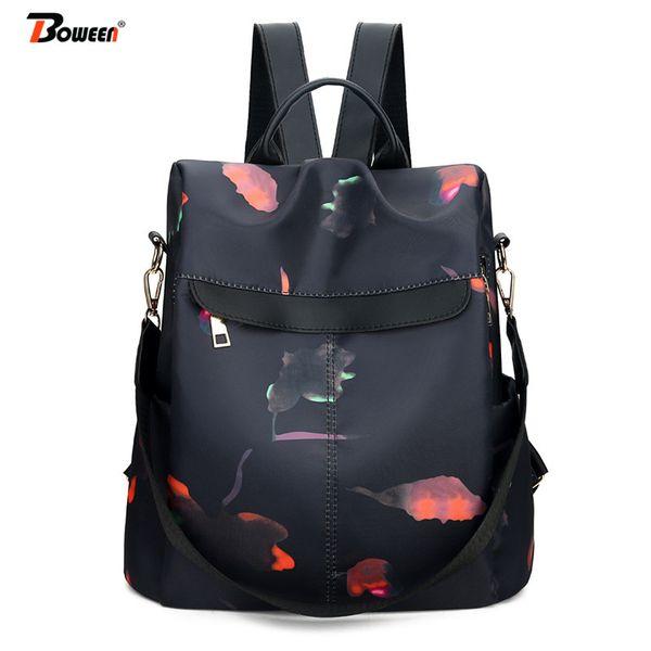 Корейский рюкзак женщины девушки подростковые школьные сумки Оксфорд студент средней школы смешанный рюкзак случайные противоугонные рюкзак 2019 новый