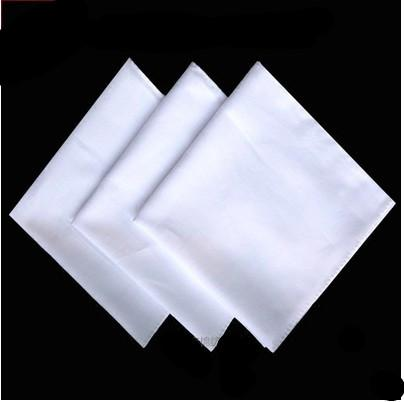 Lenço de algodão puro puro branco pintado à mão lenço de alta densidade pequena toalha quadrada tie-tingidos bordados toalha