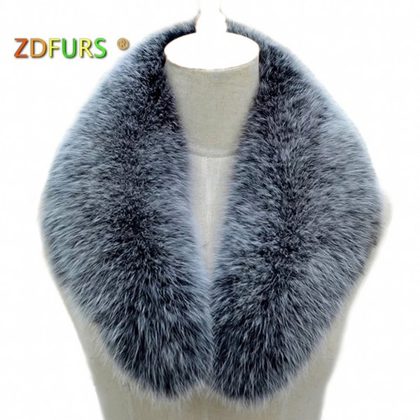 ZDFURS * Real fox fur Collar Women Shawl Wraps Shrug Neck Warmer Jacket Fur Collar Stole Natural fox fur Ring scarves D19011004
