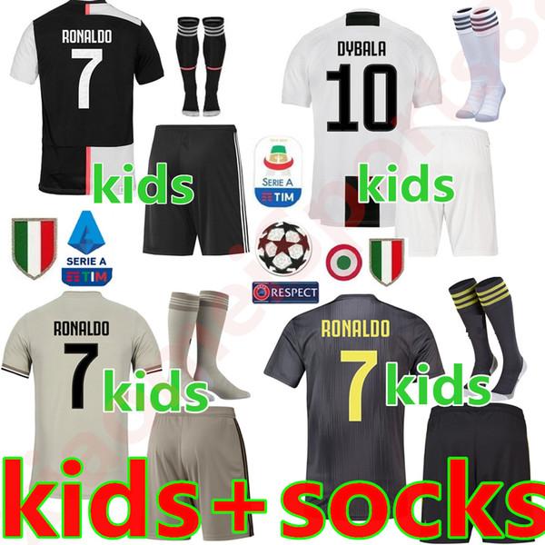 1becae33a Juventu occer jer ey kid kit 19 20 juve ronaldo dybala higuain dani alve  pjanic marchi io child 2019 football hirt uniform - dhgate.com - imall.com