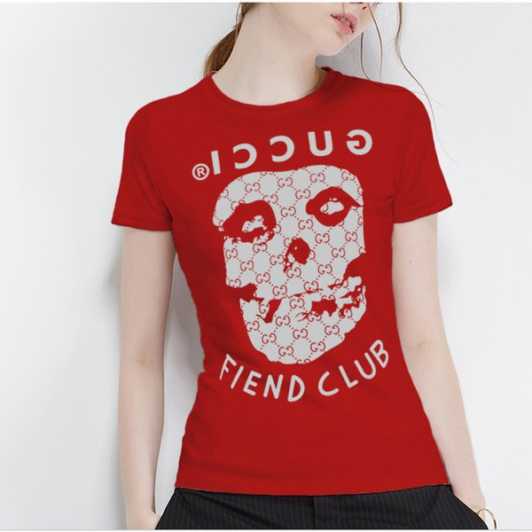 2018 new summer T-shirt and dress for women, high quality skull print round neck and short sleeves for women 875# free shipping
