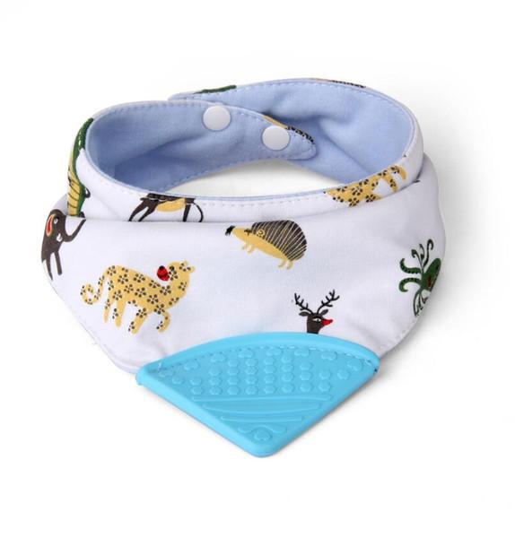 Baby Bib pocket bibs with teeth to appease the dual-purpose fashion Silicone Bib triangle towel slobber towel bibs