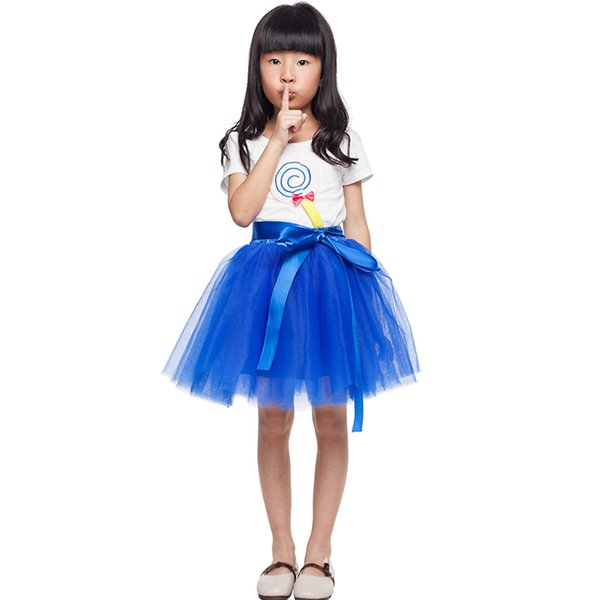 exclusive customization Tutu Skirts For Girls Skirt Kids Princess Tulle Skirts Lovely Ball Gown Pettiskirt Children