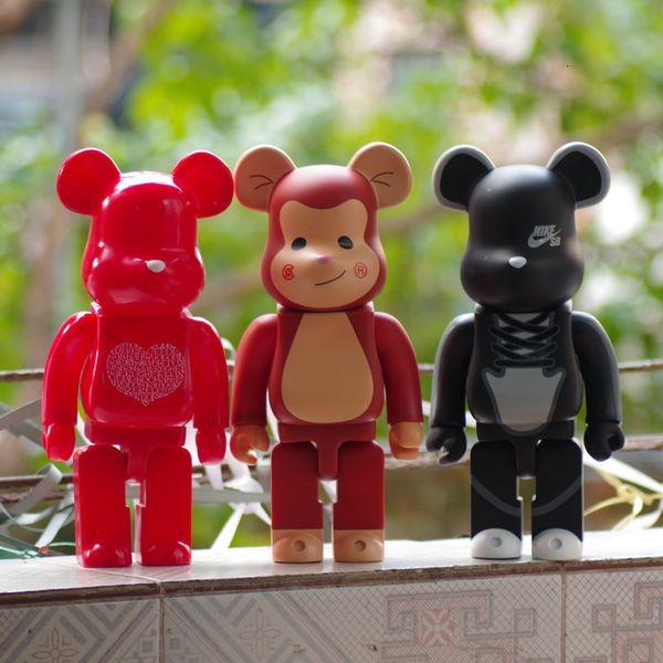 6 Estilo Zoll Torne-se 400% Bearbrick Violado PVC Action Figure Coleta presentes Modelo Brinquedos