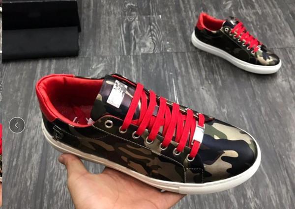 Nueva buena calidad de alta Top Man Arena zapatos planos de lujo del nuevo del diseñador de los zapatos ocasionales de Hip Hop masculino mv05