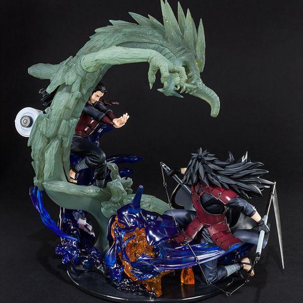 Stokta Naruto PVC Action Figure Sıfır Uchiha Susanoo Kurama İlişkisi Madara Senju Hashirama Koleksiyon Hediye Oyuncak 30cm T191104