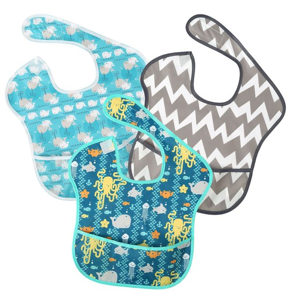 Cute Baby Bib Infant Waterproof Burp Clothes Designer Washable Baby Feeding Clothes,Stain and Odor Resistant